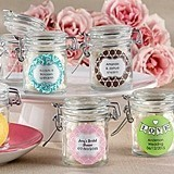 Kate Aspen Classic Personalized Glass Favor Jars (Set of 12)