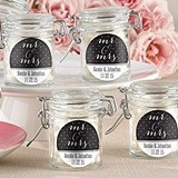 Kate Aspen Personalized Mr. & Mrs. Design Glass Favor Jars (Set of 12)