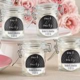 Kate Aspen Personalized Mr. & Mrs. Design Glass Favor Jars (Set of 12)