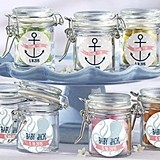 Nautical Baby Shower Personalized Glass Favor Jars (Set of 12)