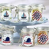 Nautical Child's Birthday Personalized Glass Favor Jars (Set of 12)