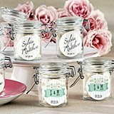 Kate Aspen Rustic Wedding Personalized Glass Favor Jars (Set of 12)