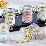 Personalized Hinged Glass Favor Jars (Religious Designs) (Set of 12)