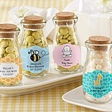 Personalized Old-Fashioned Milk Bottle Jars (Baby Shower) (Set of 12)