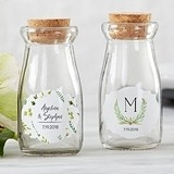 Personalized 'Botanical Garden' Vintage Milk Bottle Jars (Set of 12)