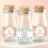 Personalized 'Cheery and Chic' Vintage Milk Bottle Jars (Set of 12)
