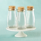 Kate Aspen Vintage Milk Bottle Jars with Cork Tops - DIY (Set of 12)