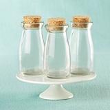 Kate Aspen Vintage Milk Bottle Jars with Cork Tops - DIY (Set of 12)