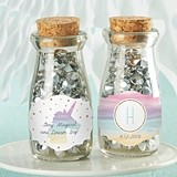 Personalized 'Enchanted Party' Vintage Milk Bottle Jars (Set of 12)