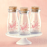 Kate Aspen It's a Girl! Polka Dot Vintage Milk Bottle Jars (Set of 12)