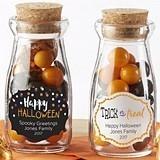 Personalized Halloween Designs Vintage Milk Bottle Jars (Set of 12)