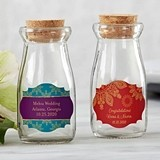 Personalized Indian Jewel Designs Vintage Milk Bottle Jars (Set of 12)