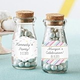 Personalized 'So Sweet' Vintage Milk Bottle Jars (Set of 12)