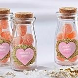 Personalized Sweet Heart Designs Vintage Milk Bottle Jars (Set of 12)