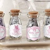 """Tutu Cute"" Personalized Vintage Milk Bottle Jar (Set of 12)"