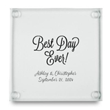 Kate Aspen 'Best Day Ever' Personalized Glass Coasters (Set of 12)