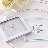 Kate Aspen Classic Collection Personalized Glass Coasters (Set of 12)