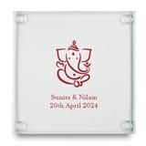 Kate Aspen Lord Ganesha Design Personalized Glass Coasters (Set of 12)