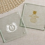 Kate Aspen 'Tropical Chic' Personalized Glass Coasters (Set of 12)