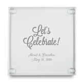 Let's Celebrate Design Personalized Glass Coasters (Set of 12)