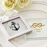 Kate Aspen Nautical Theme Personalized Glass Coasters (Set of 12)
