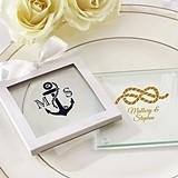 Kate Aspen Nautical Theme Personalized Glass Coasters (Set of 12)
