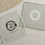 Personalized Glass Coasters with Romantic Garden Designs (Set of 12)