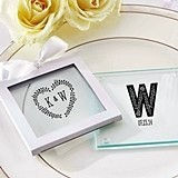 Kate Aspen Rustic Wedding Personalized Glass Coasters (Set of 12)