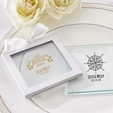 Travel & Adventure Design Personalized Glass Coasters (Set of 12)