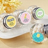 Adorable Personalized Baby Shower Screw-Top Glass Jars (Set of 12)