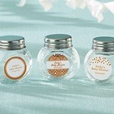 Personalized Screw-Top Glass Jars with Copper Foil Designs (Set of 12)