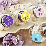 Personalized Mini Glass Favor Jars (Religious Designs) (Set of 12)