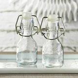 Kate Aspen Mini Glass Favor Bottles with Swing Tops - DIY (Set of 12)