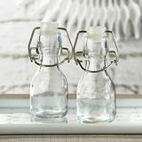 Kate Aspen Mini Glass Favor Bottles with Swing Tops - DIY (Set of 12)