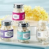 Adorable Personalized Baby Shower Mini Mason Jars (Set of 12)