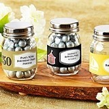 Personalized Mini Glass Mason Jars (Birthday Designs) (Set of 12)