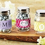 Personalized Mini Glass Mason Jars (Monogram Designs) (Set of 12)