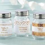 Kate Aspen Personalized Gold Foil Designs Mini Mason Jars (Set of 12)