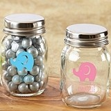 Little Peanut Elephant Design Personalized Mini Mason Jars (Set of 12)