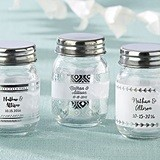 Kate Aspen Personalized Silver Foil Designs Mini Mason Jars (12 Count)
