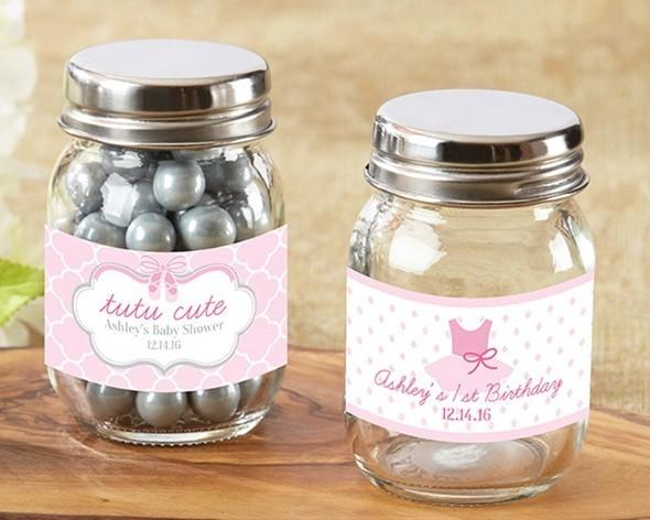 Personalized Tutu Cute Ballet Themed Mini Mason Jars Set Of 12