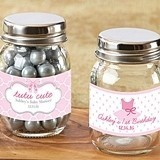 Personalized 'Tutu Cute' Ballet-Themed Mini Mason Jars (Set of 12)