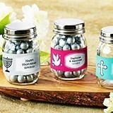 Personalized Mini Glass Mason Jars (Religious Designs) (Set of 12)