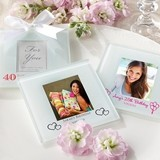 Personalized Photo Coasters/Place Card Holders - Birthday (Set of 12)
