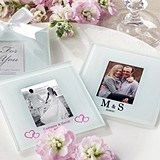 Personalized Photo Coasters/Place Card Holders - Monogram (Set of 12)