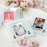 Personalized Glass Picture Coasters/Placecard Holders (Set of 12)