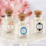 Classic Personalized Cork-Stopped Mini Glass Jars (Set of 12)
