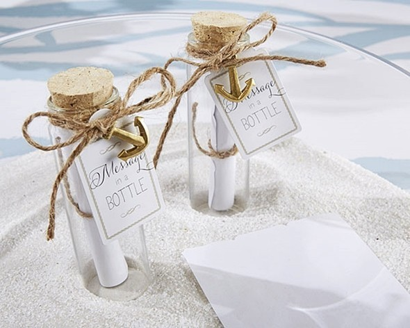 """""""Message in a Bottle"""" Well Wishes Glass Bottles (Set of 12)"""