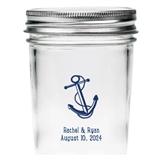 Kate Aspen Personalized Anchor & Rope Design Mason Jars (Set of 12)
