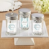 Personalized Mason Jars with Beach Tides Designs (Set of 12)